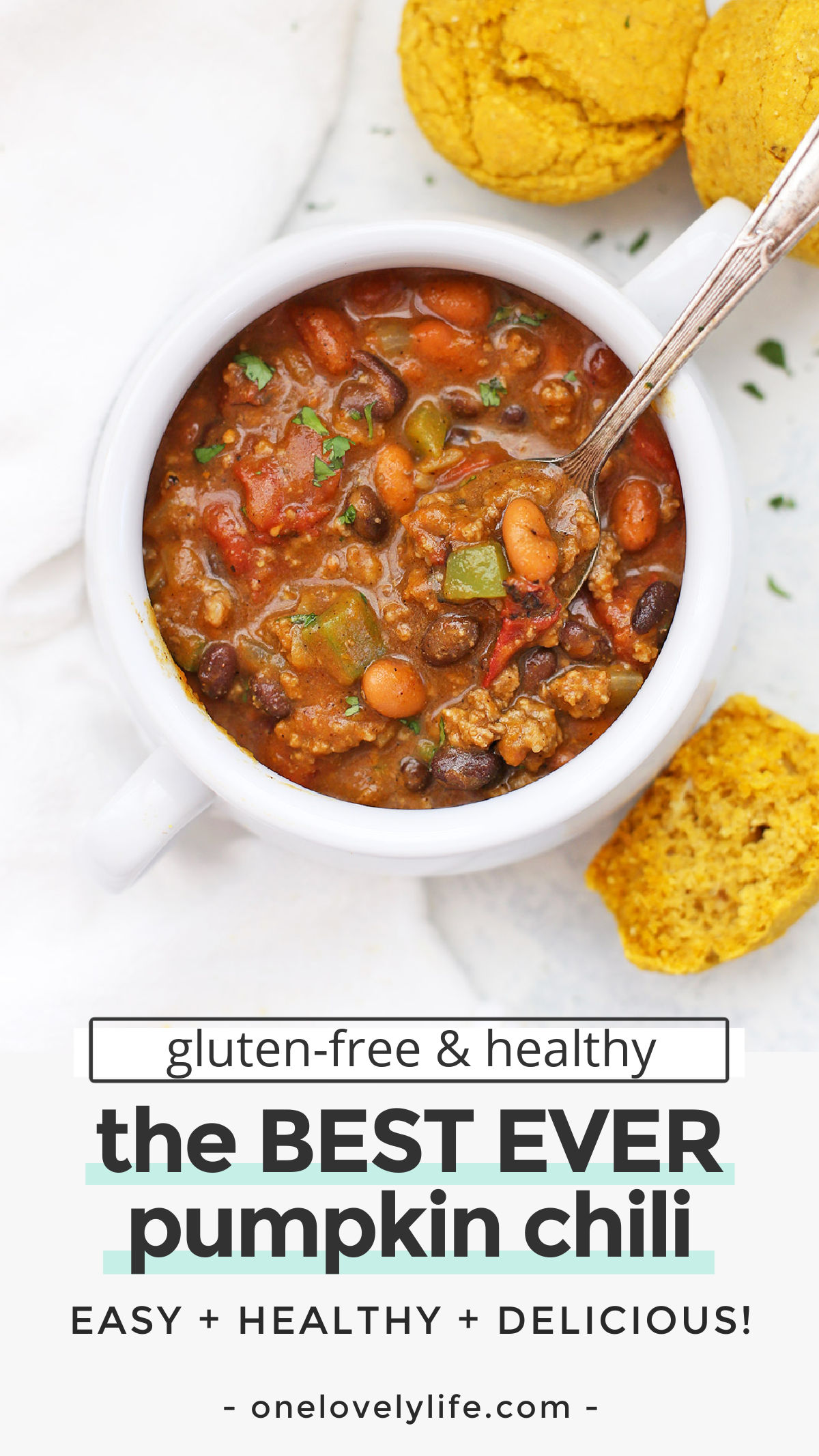 The BEST EVER Pumpkin Chili - This healthy pumpkin chili recipe might just win you a prize! (gluten-free, paleo-friendly and vegan-friendly!) // savory pumpkin recipes // pumpkin soup // how to make pumpkin chili // chili cook-off winner #pumpkin #chili #chilicookoff #glutenfree #dairyfree