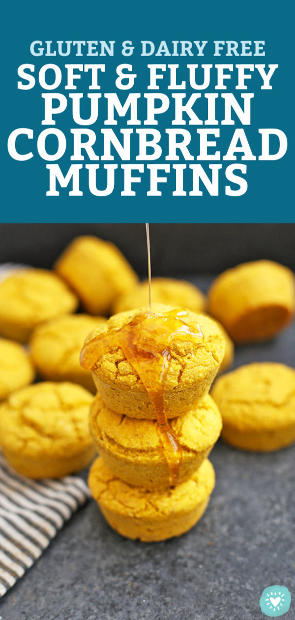 Gluten Free Pumpkin Cornbread Muffins from One Lovely Life