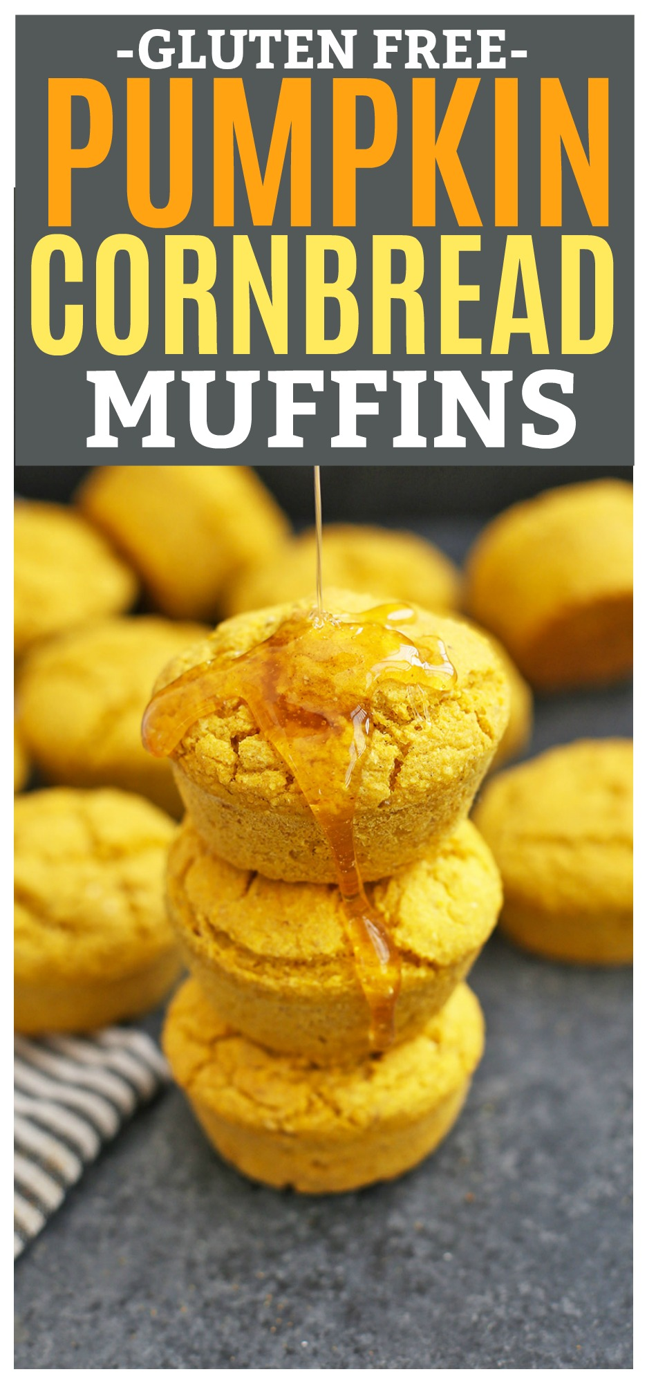 Gluten Free Pumpkin Cornbread Muffins - So good with soups, chili, and salad!