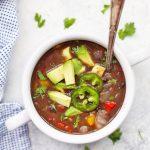 Easy Vegan Black Bean Soup - Done in just 20 minutes! #vegan #glutenfree