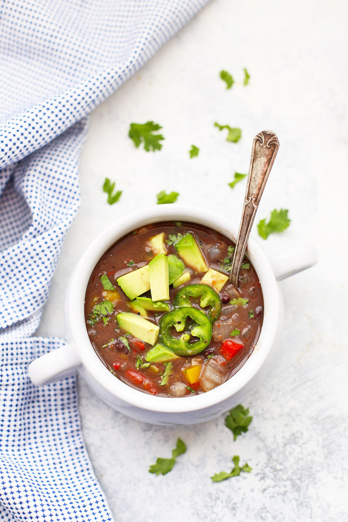 Easy Vegan Black Bean Soup - Done in just 20 minutes! #vegan #glutenfree