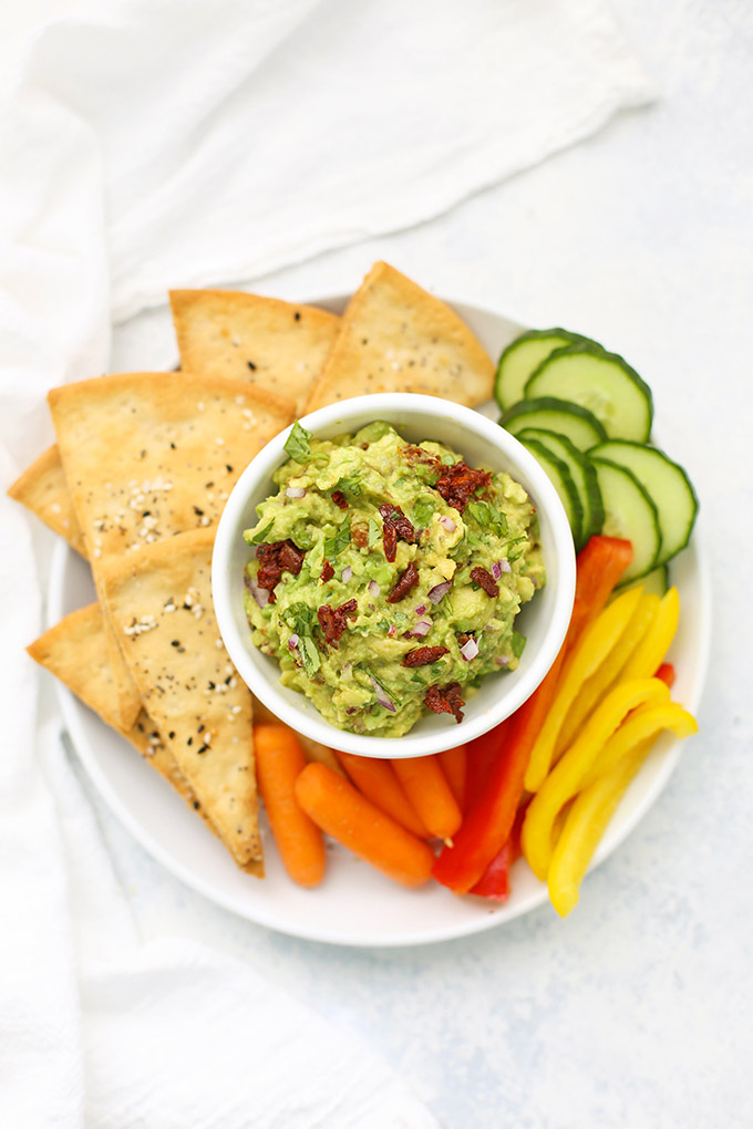 Sun Dried Tomato Avocado Dip - Like the egg rolls at the Cheesecake Factory! Love this one!