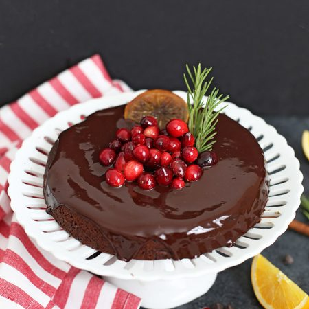 Gluten Free VEGAN Chocolate Orange Cake - the perfect Christmas or holiday cake!
