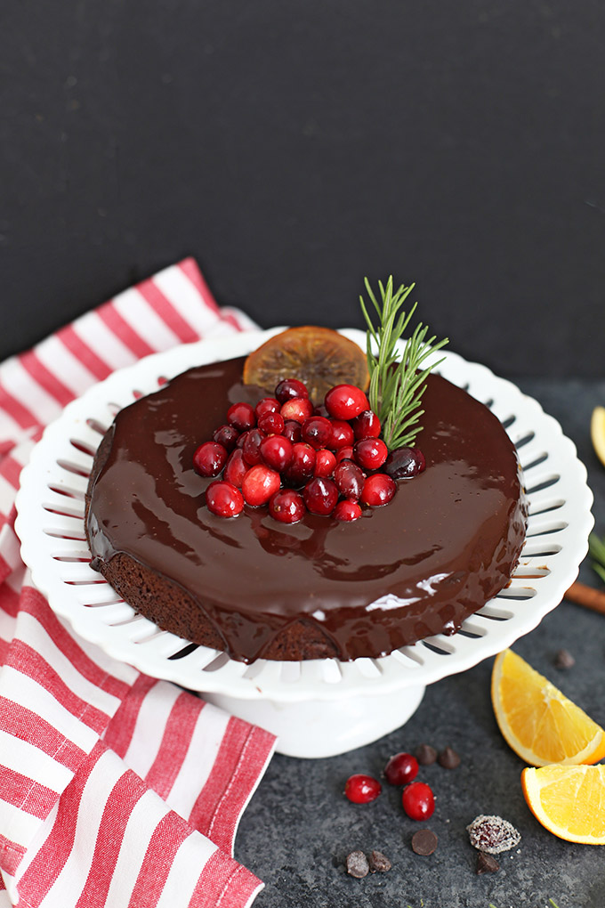 Gluten Free VEGAN Chocolate Orange Cake - the perfect Christmas or holiday cake!