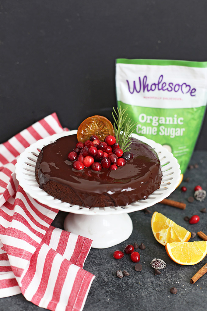 Gluten Free Vegan Chocolate Orange Cake - This cake just tastes like the holidays!