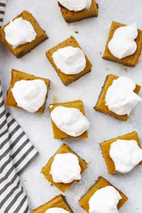 Gluten Free Pumpkin Pie Bars with Ginger Cookie Crust (with Video!)