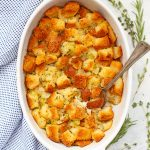 Classic Gluten Free Stuffing! This tastes like the real deal. So much flavor and so easy to add your favorite mix-ins!