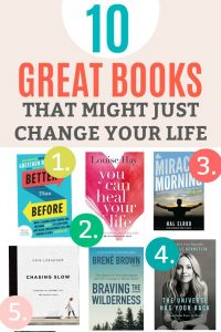 10 Books that Can Change Your Life - Whether you're setting a New Year's resolution, or simply looking for new ways to breathe energy, peace, and productivity into your life, these books are the perfect place to start.