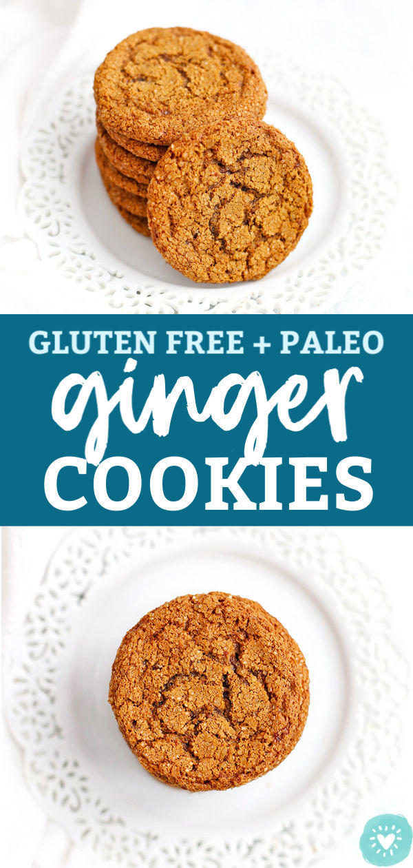 Paleo Gluten Free Ginger Cookies from One Lovely Life