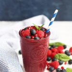 Blueberry Pomegranate Smoothie (Vegan & Paleo) - This smoothie is PACKED with superfood goodness!