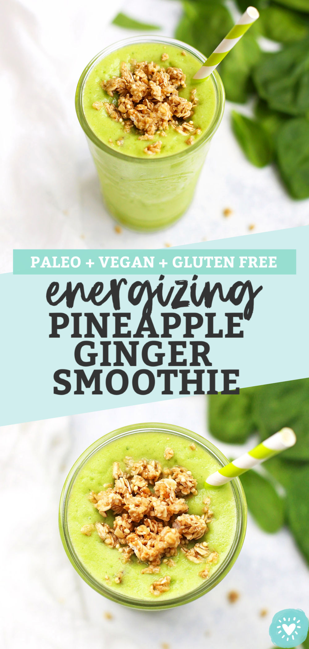 Pineapple Ginger Smoothie from One Lovely Life