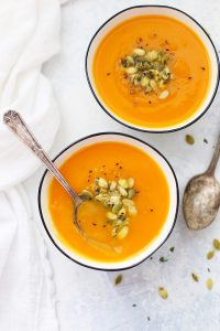 Instant Pot Carrot Squash Soup - Such an easy instant pot soup! (Slow cooker and stovetop instructions also included!)