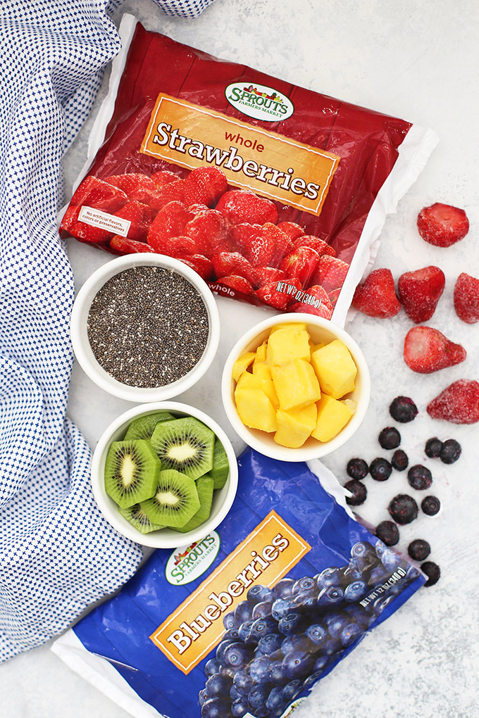 Fruit on the Bottom Chia Pudding! A yummy paleo, vegan breakfast! (Whole30 approved, too!)
