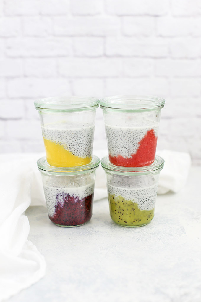 Paleo, Whole30 & Vegan Fruit on the Bottom Chia Pudding from One Lovely Life