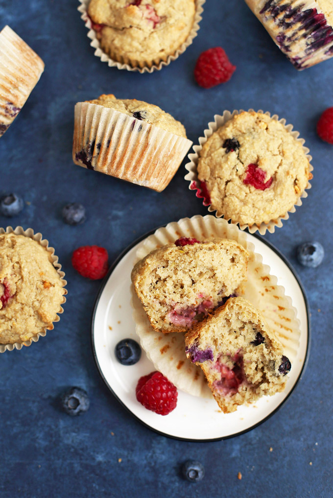Lemon Berry Oatmeal Muffins - SO GOOD! And they're gluten free and vegan!