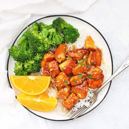 Healthy Orange Chicken (Gluten Free, Paleo Friendly) - Our whole family loves this!