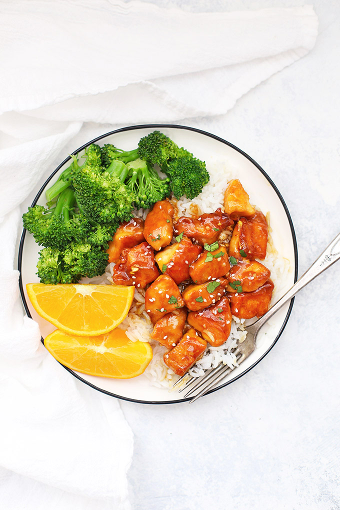 Healthy Orange Chicken from One Lovely Life