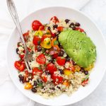 Pico de Gallo Quinoa Bowls - This healthy meal prep lunch is gluten free & vegetarian and vegan friendly. So good!