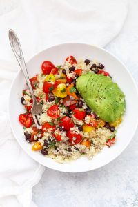 Pico de Gallo Quinoa Bowls (Great for Meal Prep!)