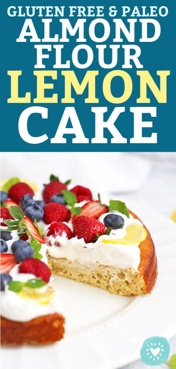 Amazing Almond Flour Lemon Cake Gluten Free Paleo One Lovely Life Birthday Cards Printable Inklcafe Filternl