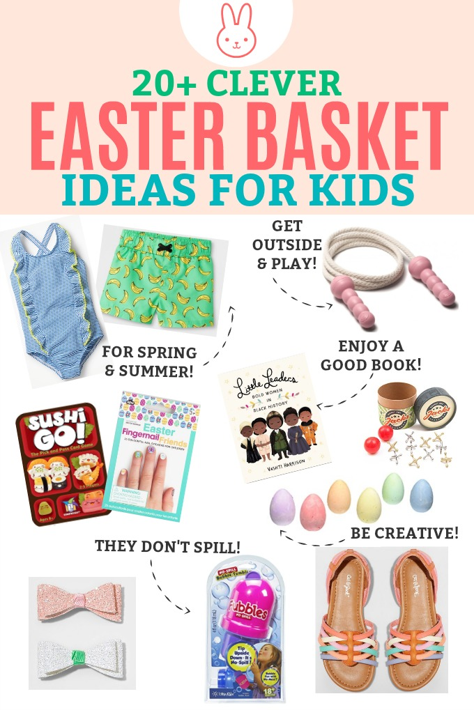 Easter basket ideas for kids besides candy one lovely life 20 clever easter basket ideas for kids fun ideas besides candy negle Gallery
