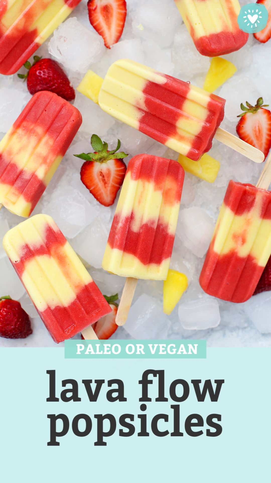 Lava Flow Popsicles from One lovely Life