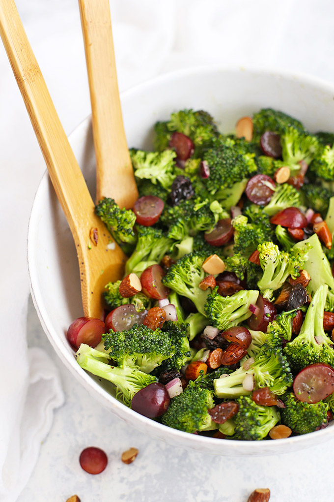 Vegan Broccoli Salad With Poppy Seed Dressing One Lovely Life