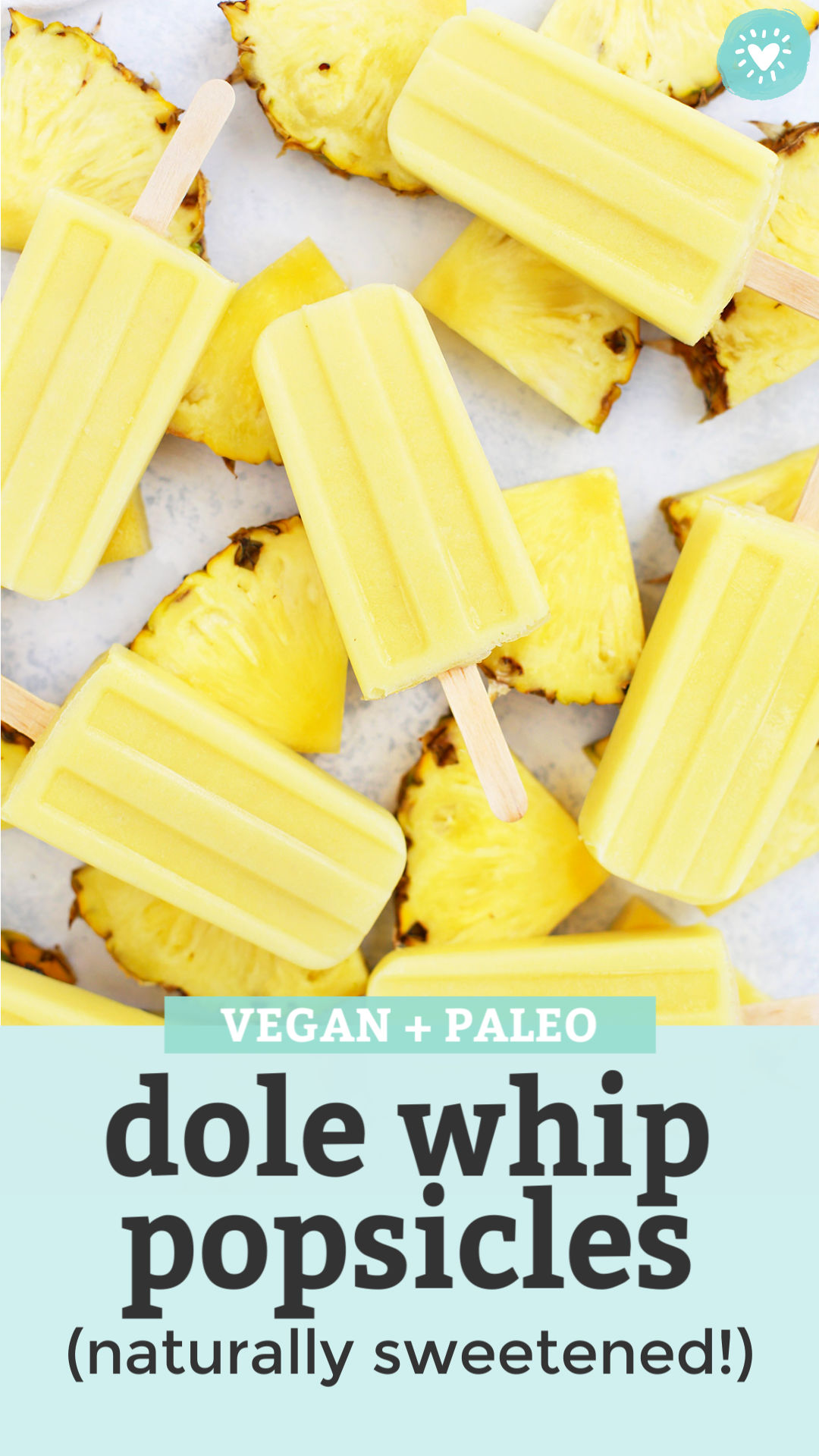 Dole Whip Popsicles from One Lovely Life