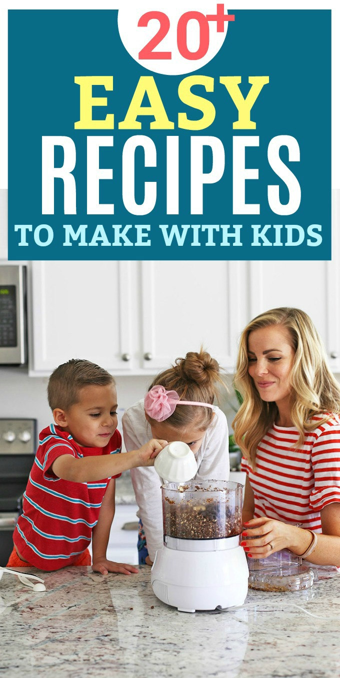 20+ Easy Recipes to Cook with Kids - Simple, no-fuss recipes to make with your kids. Plus, lots of ways to include them in the cooking!