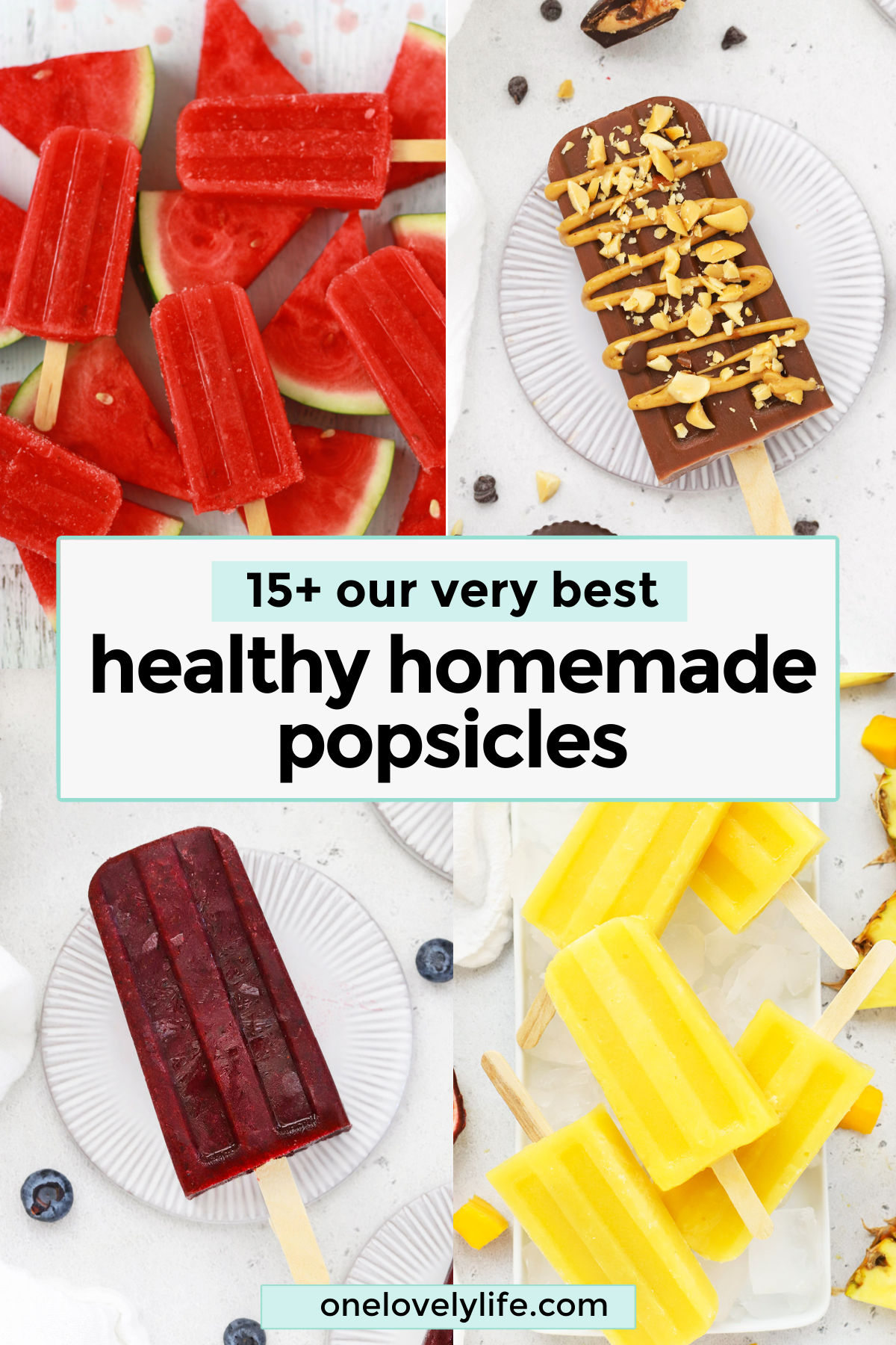 The BEST Healthy Homemade Popsicles - Some of the BEST healthy popsicle recipes on the net! (Naturally-sweetened, gluten-free & dairy-free!) // Homemade Popsicle Recipe // Healthy Popsicles // Vegan Popsicles // Paleo Popsicles // Healthy Ice Pops