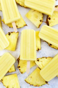 Vegan & Paleo Healthy Dole Whip Popsicles from One Lovely Life