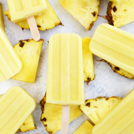 Dole Whip Popsicles - Vegan & Paleo! These are just like Disney Dole Whips. We love them!