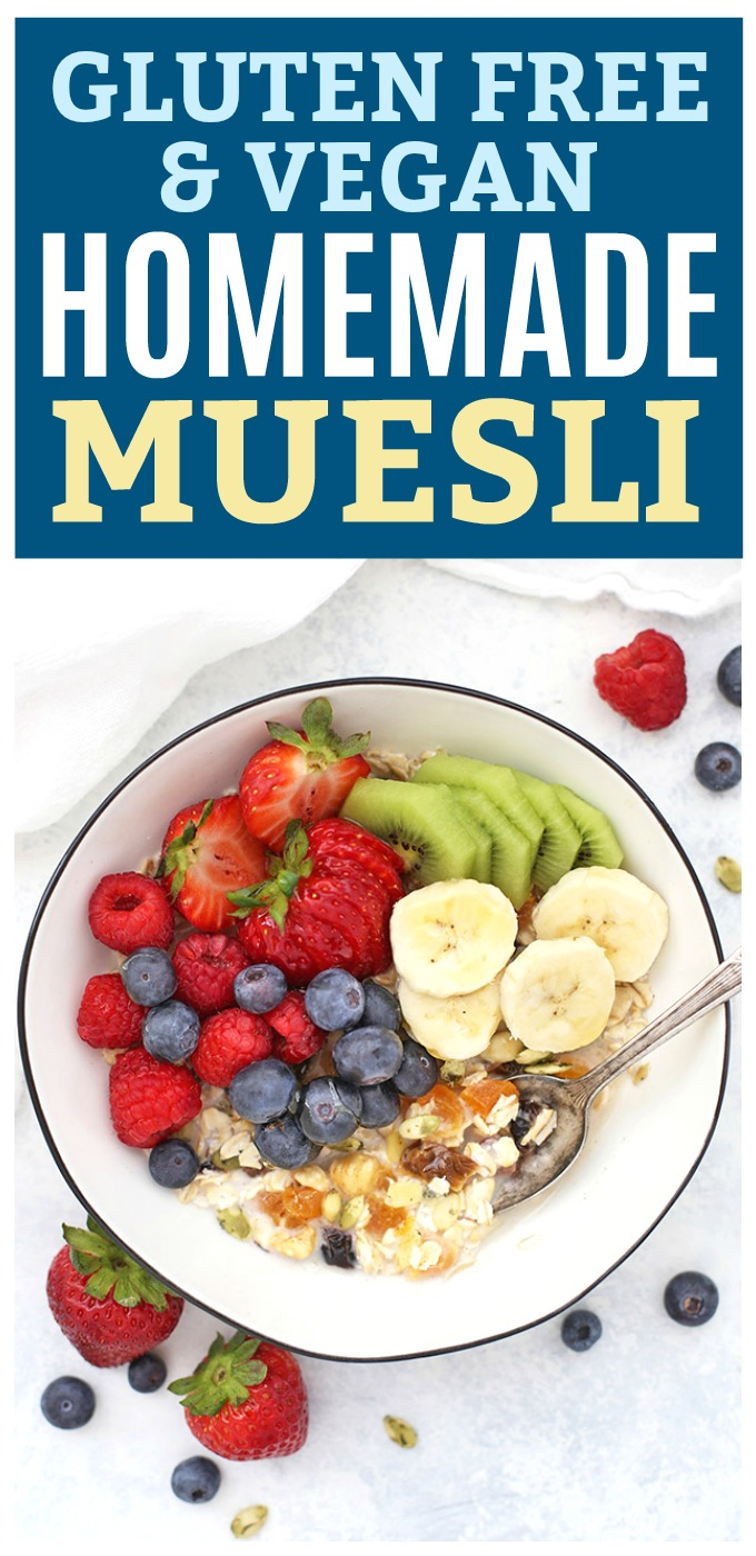 Easy Homemade Muesli - The original overnight oats! Muesli is such a delicious healthy breakfast. (Gluten free & Vegan)