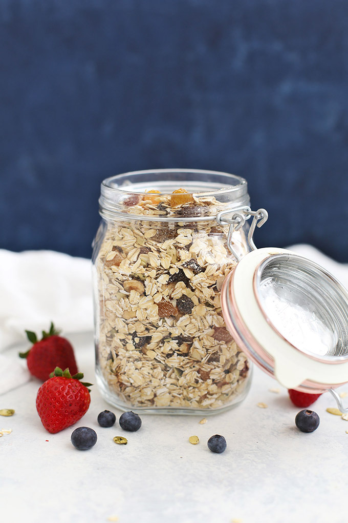 Easy Homemade Muesli - If you love overnight oats, you'll LOVE Muesli! It's gluten free, vegan, and so easy to make!
