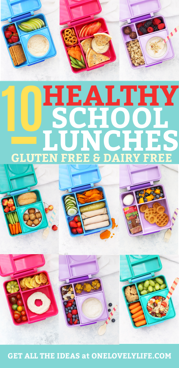 Healthy School Lunch Ideas - Two weeks of healthy school lunches packed in Omie Box lunch boxes.