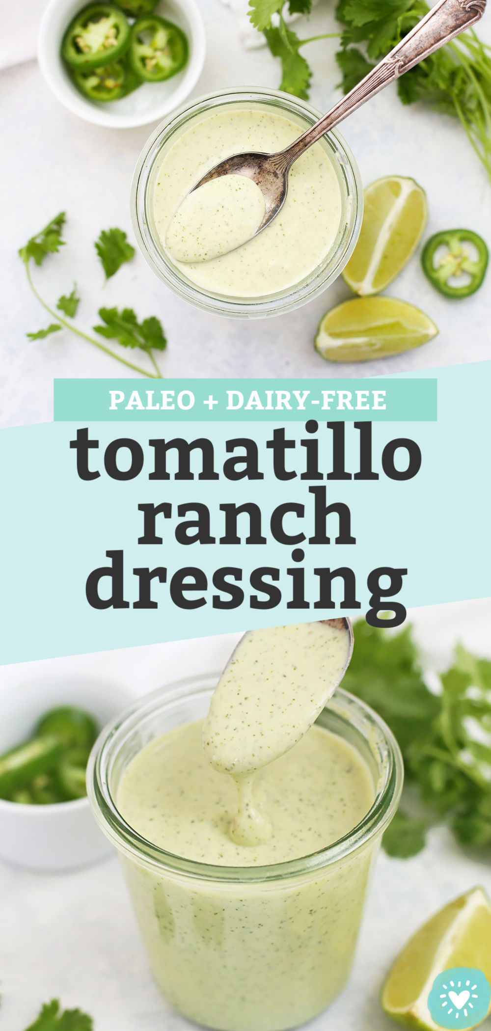 Cafe Rio Copycat Tomatillo Ranch Dressing