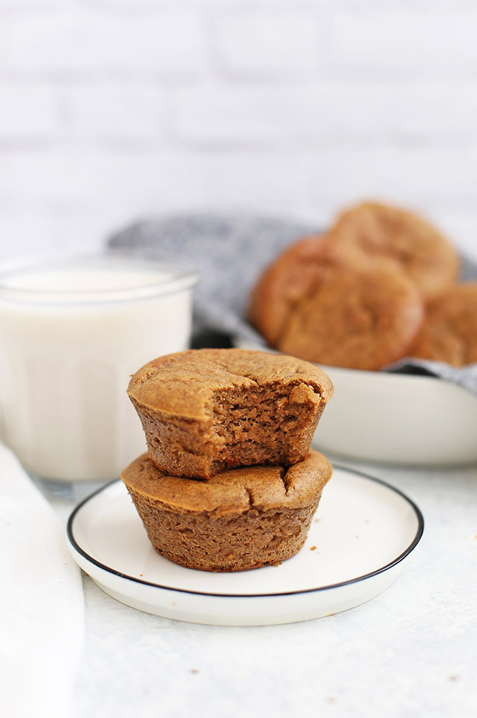 My kids LOVE these Paleo Almond Butter Banana Muffins - They're gluten free, grain free and are perfect for after school snacks or packing in lunches!