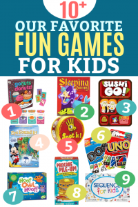 10 of the BEST GAMES for KIDS! The perfect beginner games for younger kids and elementary aged kids (beyond the classics you grew up with!)