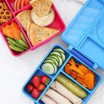 Healthy School Lunch Ideas - Two healthy school lunches packed in an Omie Box lunch boxes.