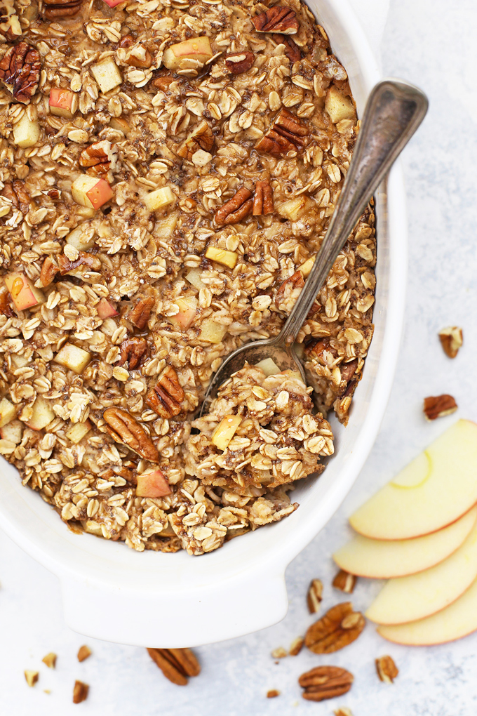 Apple Cinnamon Baked Oatmeal One Lovely Life