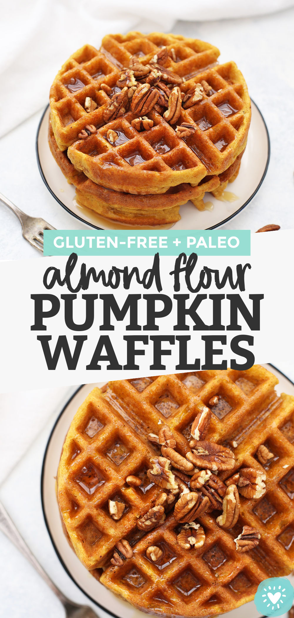 Almond Flour Pumpkin Waffles - These paleo pumpkin waffles are naturally gluten free, and completely delicious. Crispy on the outside and fluffy on the inside. // Paleo waffle recipe // almond flour waffle recipe // gluten free waffle recipe // gluten free pumpkin waffles recipe // paleo pumpkin waffles recipe // almond flour waffles recipe // pumpkin waffles recipe // paleo breakfast // paleo brunch // paleo pumpkin recipes // gluten free breakfast // meal prep breakfast