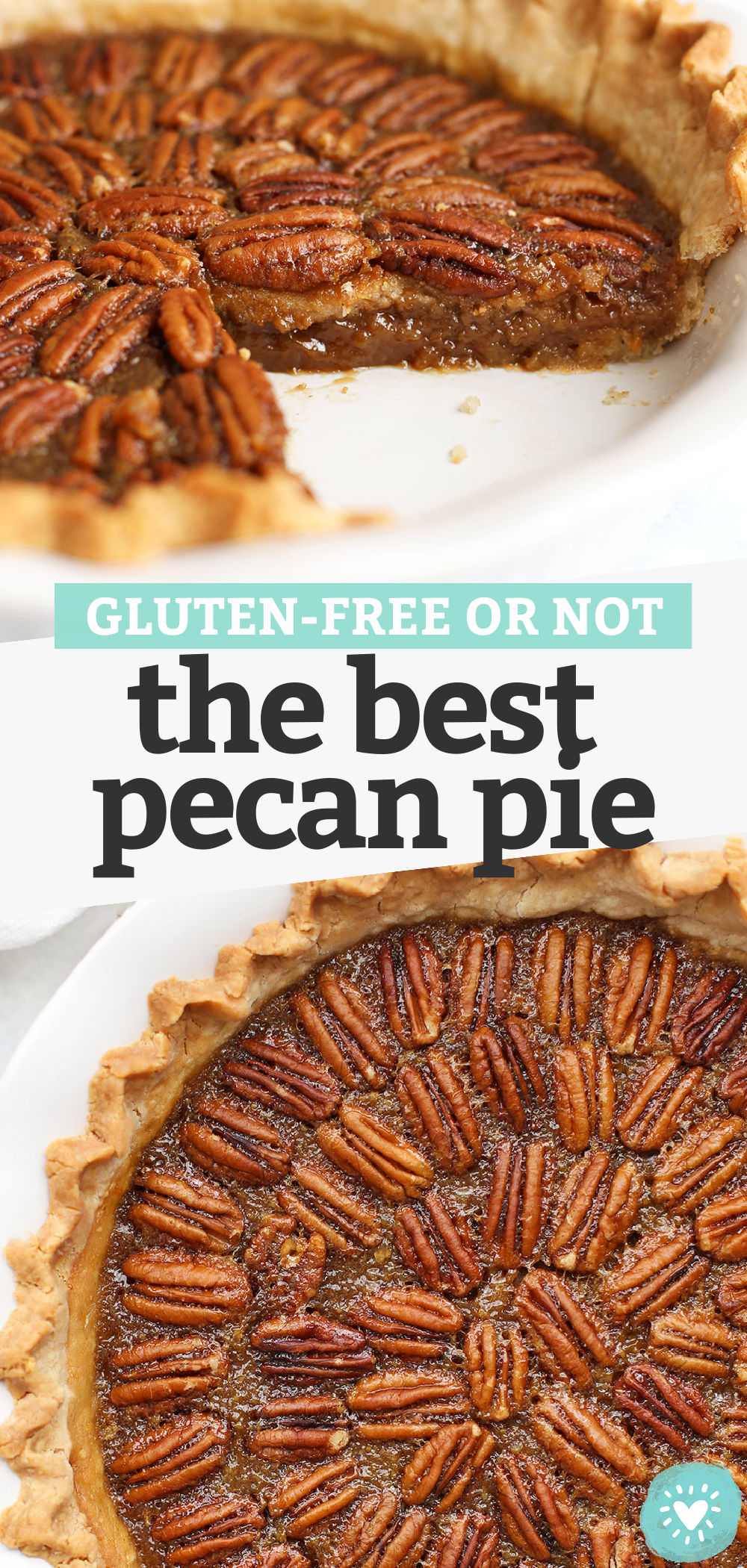 The BEST Pecan Pie Recipe - This yummy pecan pie is made without corn syrup. The filling is incredible and I love all the crust options. Gluten Free, Dairy Free & Paleo-Friendly! // pecan pie // paleo thanksgiving // gluten free thanksgiving // thanksgiving pie #pie #pecanpie #thanksgiving #glutenfree #paleo
