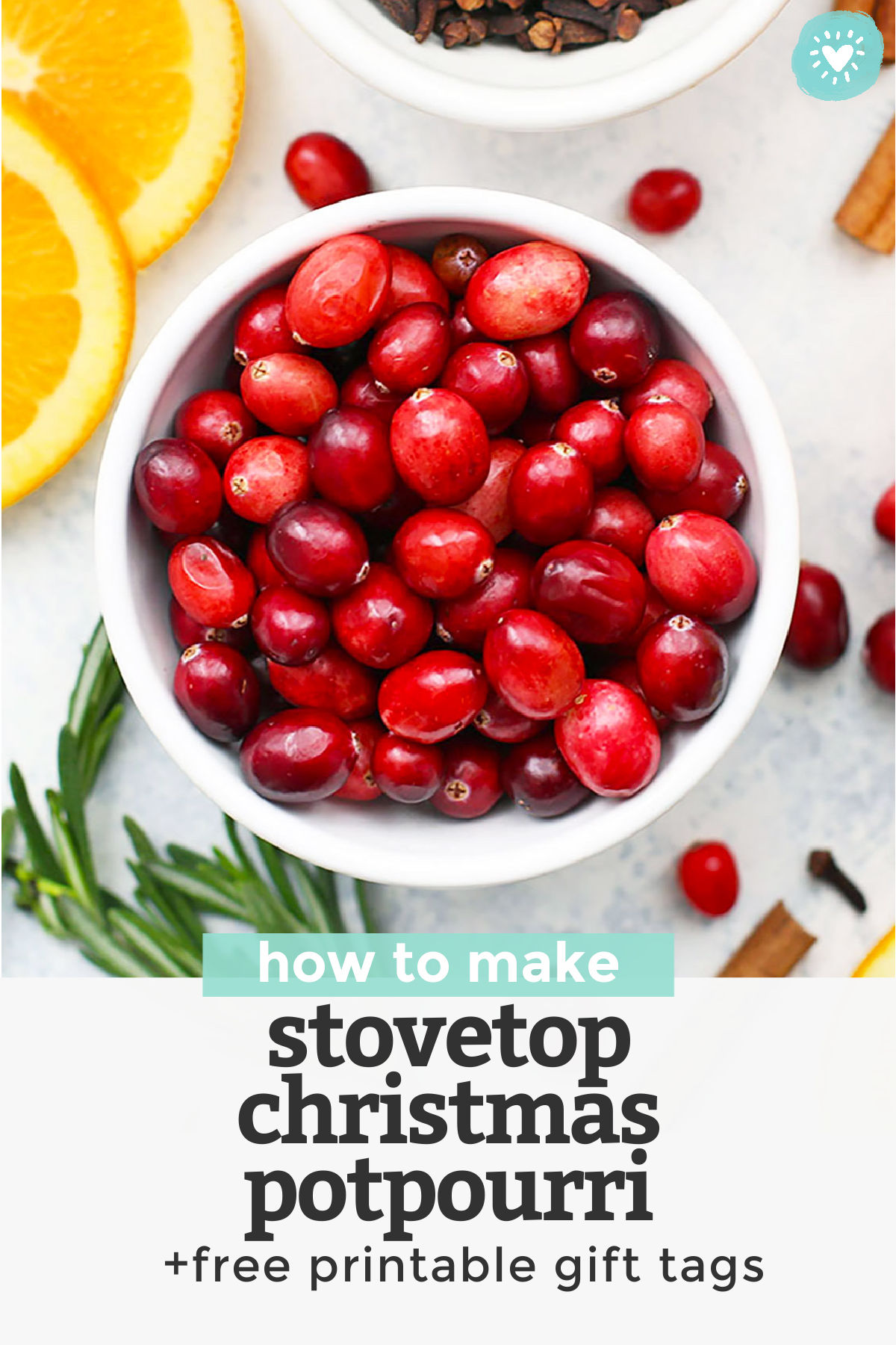How To Make Stovetop Christmas Potpourri With Printable Gift Tags One Lovely Life