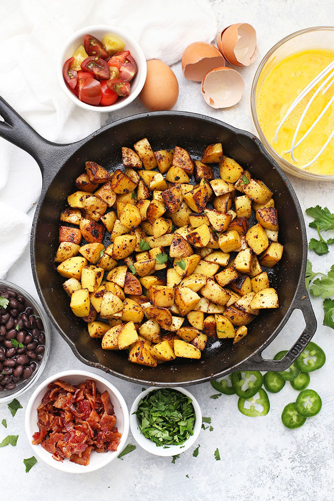 Crispy Seasoned Potatoes for the BEST Breakfast Tacos from One Lovely Life