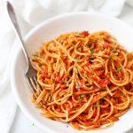 Pasta al Pomodoro from One Lovely Life