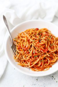 Pasta al Pomodoro from One Lovely Life
