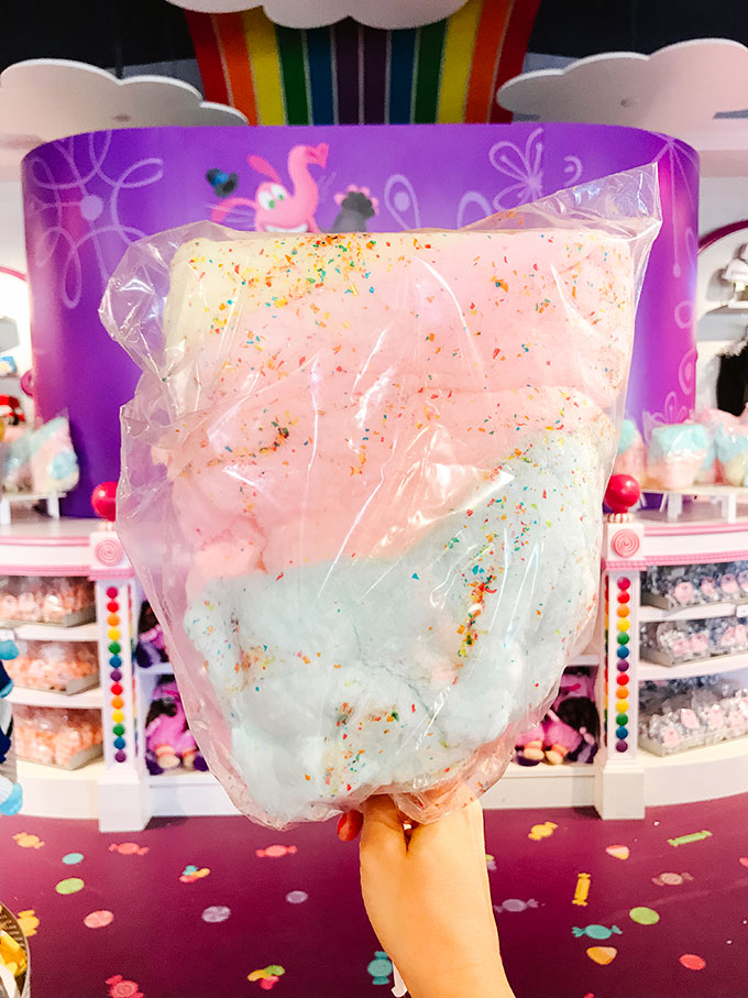 Confetti Cotton Candy from Bing Bong's Sweet Shop at Disney's California Adventure Park