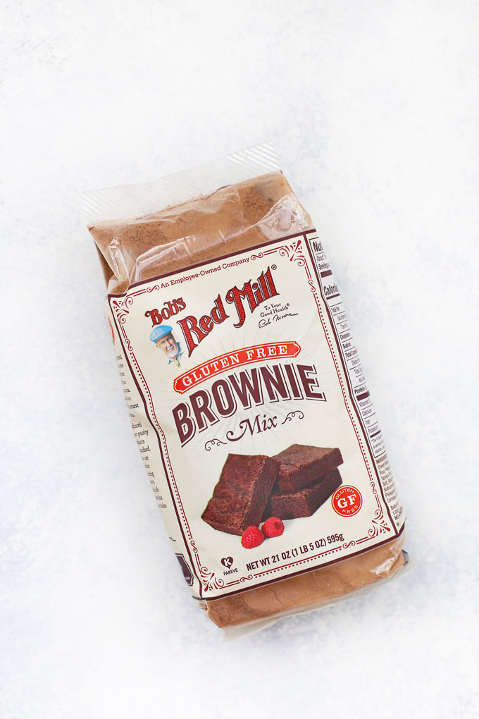 Bob's Red Mill Gluten Free Brownie Mix on a white background