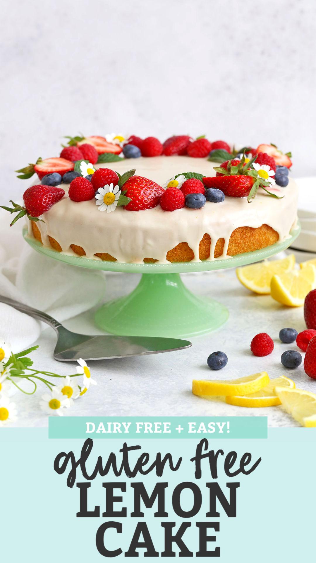 Gluten Free Lemon Cake from One Lovely Life