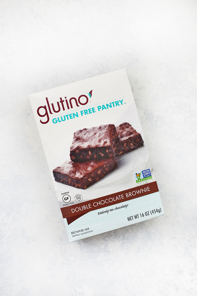 Glutino Gluten Free Brownie Mix on a white background